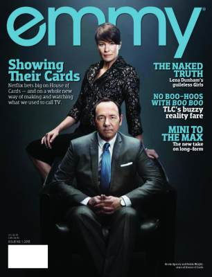 Kevin Spacey and Robin Wright on the cover of EMMY magazine