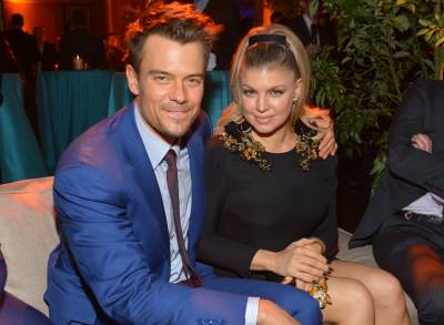Josh Duhamel (L) and actress/singer Fergie attend the premiere of Relativity Media's 'Safe Haven' after party at The Terrace At Hollywood & Highland on February 5, 2013
