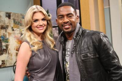 Kate Upton and Bill Bellamy on the set of Access Hollywood Live on February 20, 2013