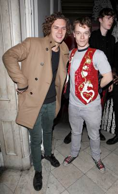 Finn Jones and Alfie Allen attend the Cuckoo Club and Show Pony pop up club, celebrating Cuckoo's 7th birthday, at 6 Grosvenor Place, London, on November 24, 2012