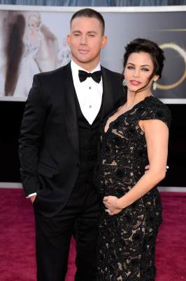 Channing Tatum and his wife, Jenna Dewan-Tatum, arrive at the Oscars held at the Hollywood & Highland Center, Hollywood, on February 24, 2013