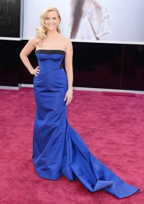 Reese Witherspoon arrives at the Oscars on February 24, 2013 in Hollywood, Calif.