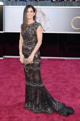 Sandra Bullock arrives at the Oscars at Hollywood & Highland Center on February 24, 2013 in Hollywood, Calif.