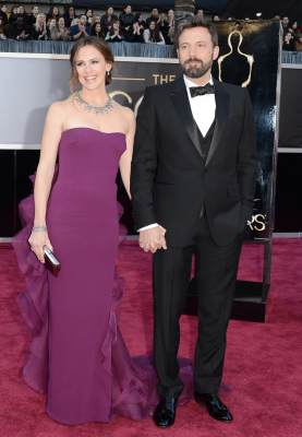Jennifer Garner and Ben Affleck arrive at the Oscars on February 24, 2013 in Hollywood, Calif.