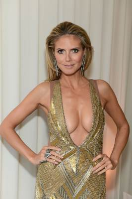 Heidi Klum attends the 21st Annual Elton John AIDS Foundation Academy Awards Viewing Party at Pacific Design Center, West Hollywood, on February 24, 2013