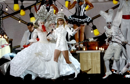 Taylor Swift performs onstage during the 55th Annual Grammy Awards at Staples Center on February 10, 2013 in Los Angeles
