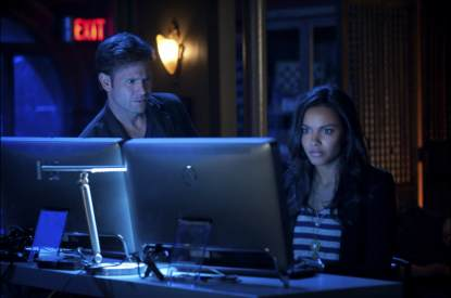 Matt Davis and Jessica Lucas in The CW's 'Cult'