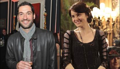 Tom Ellis, Michelle Dockery as Lady Mary