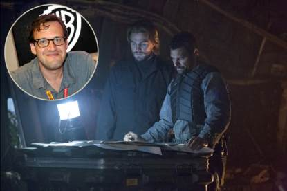 &#8216;Arrow&#8217; Executive Producer Andrew Kreisberg (in bubble), Stephen Amell as Oliver Queen with Manu Bennett as Slade Wilson
