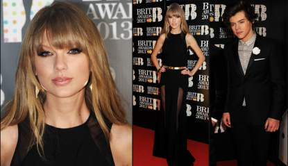 Taylor Swift, Harry Styles at the Brit Awards in London, Feb. 20, 2013