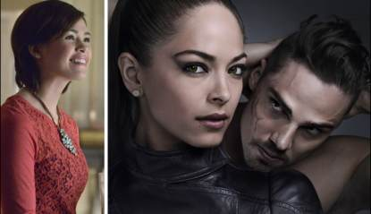Nicole Gale Anderson, Kristin Kreuk and Jay Ryan from The CW's 'Beauty and The Beast'