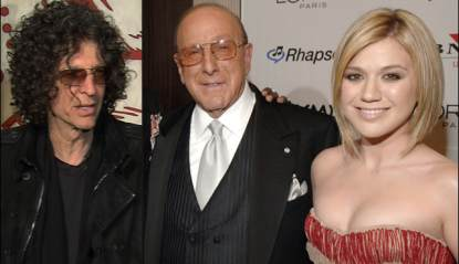 Howard Stern, Clive Davis and Kelly Clarkson