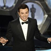 Seth MacFarlane speaks onstage during the Oscars held at the Dolby Theatre on February 24, 2013 in Hollywood, Calif.