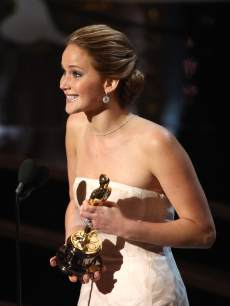 Jennifer Lawrence onstage during the Oscars held at the Dolby Theatre on February 24, 2013 in Hollywood, Calif