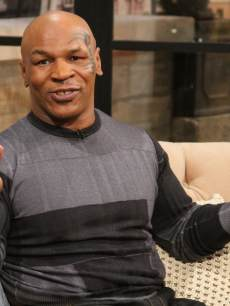 Mike Tyson visits Access Hollywood Live on February 27, 2013