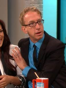 Andy Dick and pro partner Sharna Burgess seen on Access Hollywood Live on March 1, 2013