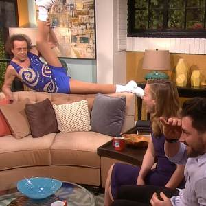 Richard Simmons Causes Mayhem On Access Hollywood Live: Can Piper Perabo & Maksim Chmerkovskiy Control Him?