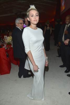 Miley Cyrus attends Neuro at 21st Annual Elton John AIDS Foundation Academy Awards Viewing Party at Pacific Design Center, West Hollywood on February 24, 2013