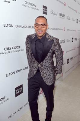 Chris Brown attends Neuro at 21st Annual Elton John AIDS Foundation Academy Awards Viewing Party at Pacific Design Center, West Hollywood, on February 24, 2013