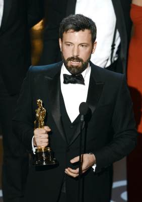 "Ben Affleck accepts the Best Picture award for ""'Argo' onstage during the Oscars held at the Dolby Theatre in Hollywood on February 24, 2013"