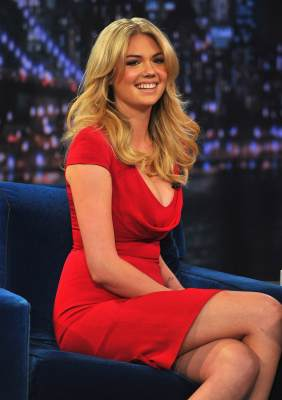 Kate Upton visits 'Late Night With Jimmy Fallon' at Rockefeller Center on February 25, 2013 in New York City