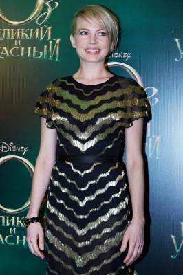 Michelle Williams attends Walt Disney Pictures' Moscow premiere of 'Oz The Great And Powerful' at the Okyabe cinema hall on February 27, 2013
