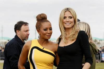 Mel B and Heidi Klum get ready to judge &#8216;America&#8217;s Got Talent,&#8217; New Orleans, March 4, 2013