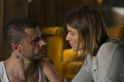 Christos Vasilopoulos and Ivana Milicevic in 'Banshee' Episode 8