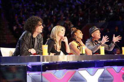 Howard Stern, Heidi Klum, Mel B. and Howie Mandel judge contestants for &#8216;America&#8217;s Got Talent&#8217;