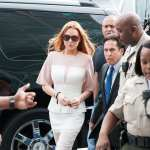 Lindsay Lohan arrives to her trial for allegedly lying to police after a car crash, reckless driving and violating her probation for a 2011 jewelry theft conviction at Airport Branch Courthouse of Los Angeles Superior Court March 18, 2013 in Los Angeles