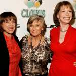 Valerie Harper, Cloris Leachman and Mary Tyler Moore arrive at the celebration for Cloris Leachman&#8217;s 60 years in show business at Fogo De Chao restaurant on October 5, 2006 in Beverly Hills