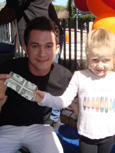 Ryan Patterson daughter with magician Justin Willman, John Varvatos Charity 2013