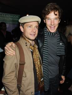 Martin Freeman and Benedict Cumberbatch attend the UK Premiere of &#8216;Creation&#8217;, at Curzon Mayfair on September 13, 2009 