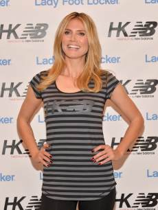 Heidi Klum is seen at the launch of her new collection &#8216;Heidi Klum for New Balance&#8217; at Lady Foot Locker in Culver City, Calif., on March 14, 2013 