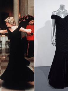 Princess Diana in black dress