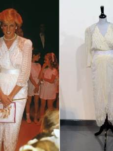 Princess Diana in white dress