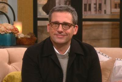 Steve Carell visits Access Hollywood Live on March 8, 2013