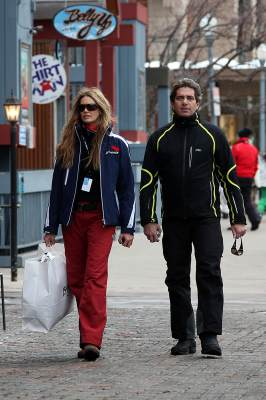 Elle Macpherson and Jeff Soffer are spotted in Aspen, CO, on December 22, 2009