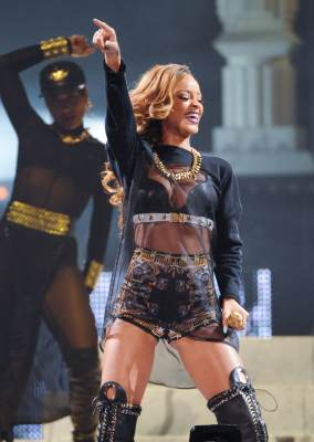 Rihanna performs in concert at Air Canada Centre on March 18, 2013 in Toronto