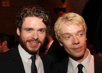Richard Madden and Alfie Allen attend the after party for 'Game Of Thrones' Los Angeles Premiere presented by HBO at Hollywood Roosevelt Hotel on March 18, 2013