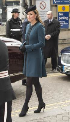 Catherine, Duchess of Cambridge arrives for an official visit to Baker Street Underground Station on March 20, 2013 in London, England