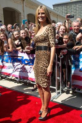 Heidi Klum arrives at the &#8216;America&#8217;s Got Talent&#8217; Season 8 auditions at the Lila Cockrell Theatre, San Antonio, Texas, on March 20, 2013