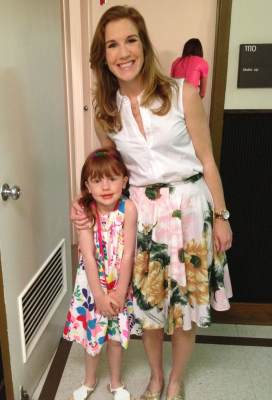 Access Hollywood Live Easter Family Fashion Show, Fab Florals with Kit (mom) and Stella (daughter)
