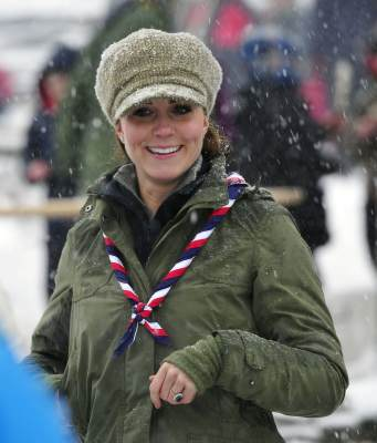Catherine, Duchess of Cambridge visits Great Tower Scout camp on March 22, 2013 in Windermere, Cumbria