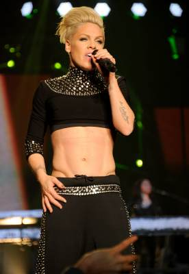 Pink performs during 'The Truth About Love' tour at Madison Square Garden in New York City on March 22, 2013