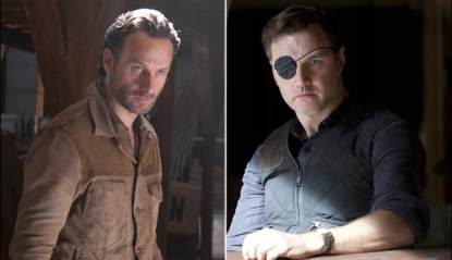 Andrew Lincoln as Rick Grimes, David Morrissey as The Governor in 'The Walking Dead'