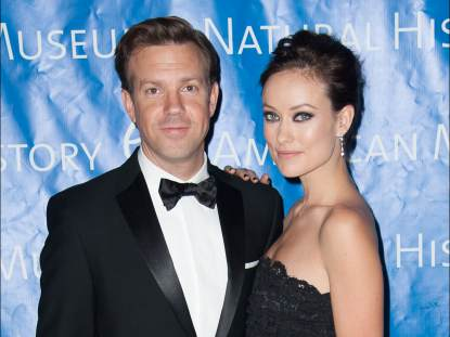 Jason Sudeikis and Olivia Wilde attend The 2012 Museum of Natural History Gala at American Museum of Natural History on November 15, 2012