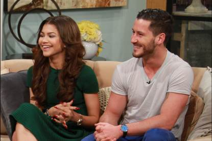 Zendaya and Val Chmerkovskiy on Access Hollywood Live on March 22, 2013
