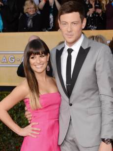 Lea Michele and Cory Monteith attend the 19th Annual Screen Actors Guild Awards on January 27, 2013 in Los Angeles
