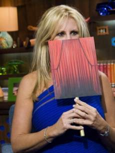'The Real Housewives of Orange County's' Vicki Gunvalson appears on Bravo's 'Watch What Happens Live' on April 1, 2013